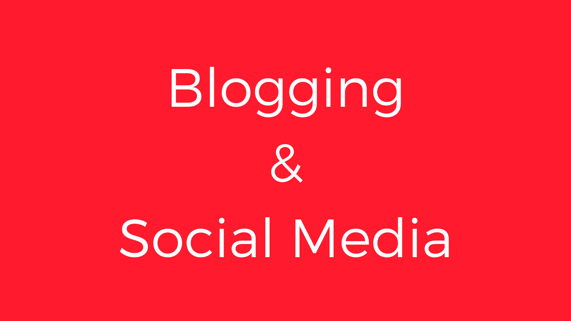 Blogging und Social Media
