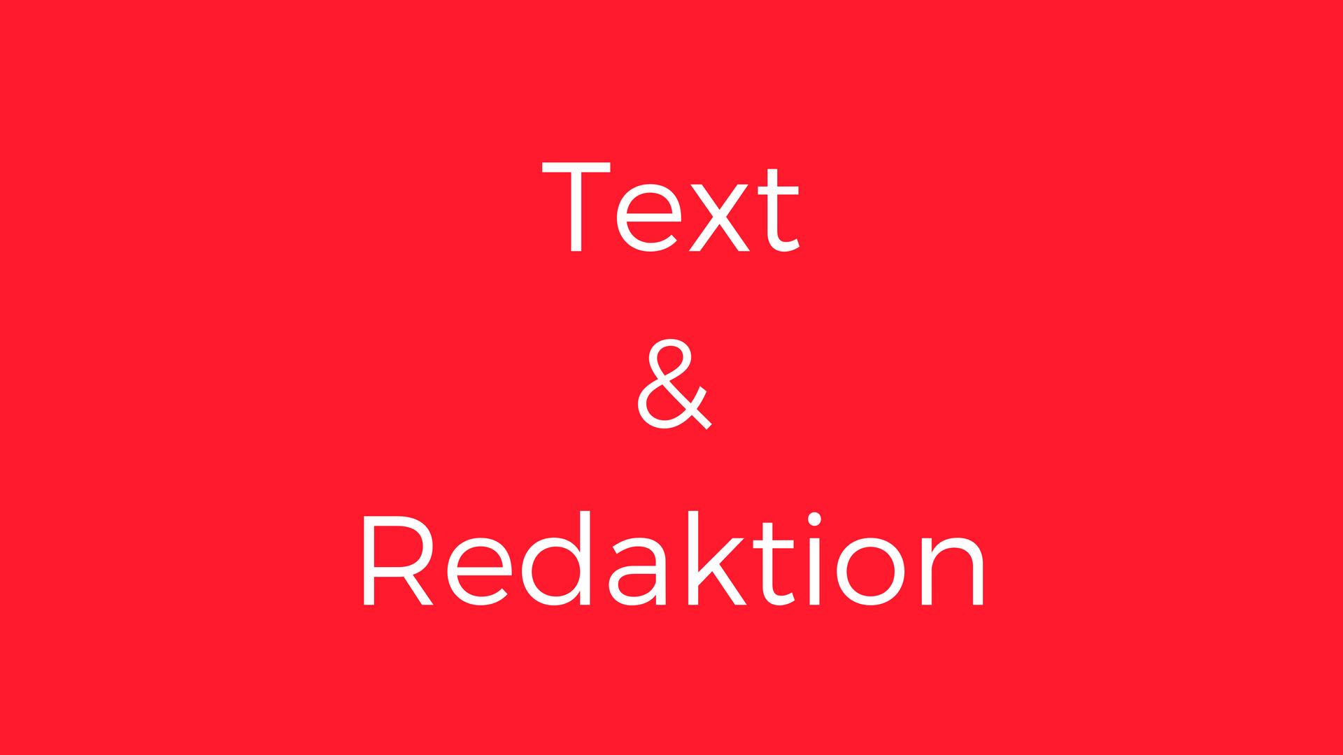 Text und Redaktion